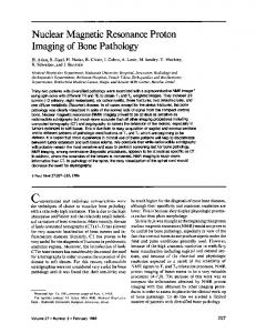 Nuclear Magnetic Resonance Proton Imaging of Bone Pathology