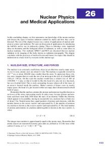 Nuclear Physics and Medical Applications