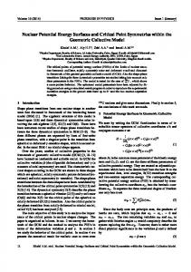 Nuclear Potential Energy Surfaces and Critical ... - Progress in Physics