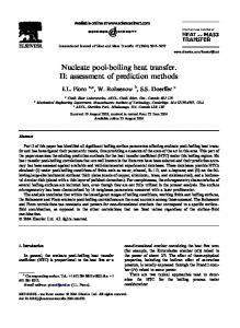 Nucleate pool-boiling heat transfer. II: assessment of ...