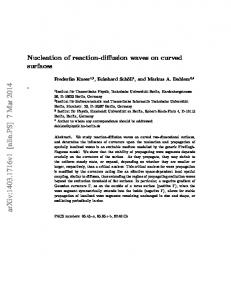 Nucleation of reaction-diffusion waves on curved surfaces