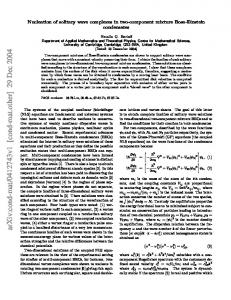Nucleation of solitary wave complexes in two-component mixture Bose