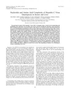 Nucleotide and Amino Acid Complexity of ... - Journal of Virology