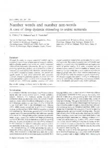 Number words and number non-words - UNICOG