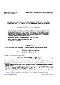 Numerical analysis of some optimal control problems governed ... - Core