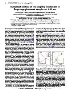 Numerical analysis of the coupling mechanism in ... - OSA Publishing
