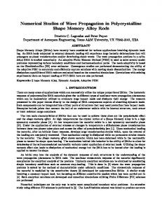 Numerical and experimental studies of wave propagation in