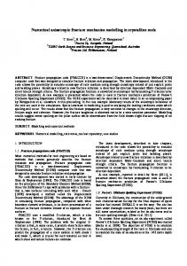 Numerical anisotropic fracture mechanics modelling