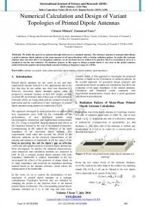 Numerical Calculation and Design of Variant Topologies of Printed ...