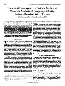 Numerical convergence in periodic method of moments ... - IEEE Xplore