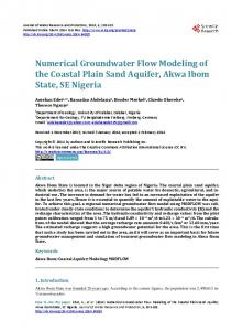 Numerical groundwater flow modeling of the Coastal Plain Sand ...