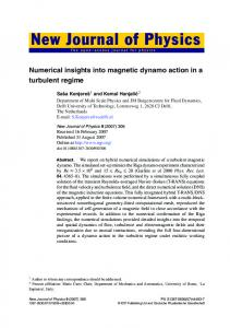 Numerical insights into magnetic dynamo action ... - repository.tudelft.nl