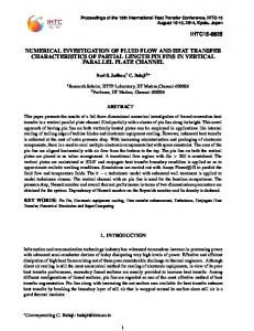numerical investigation of fluid flow and heat transfer