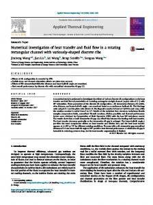 Numerical investigation of heat transfer and fluid flow ...
