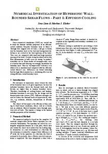 numerical investigation of hypersonic wall