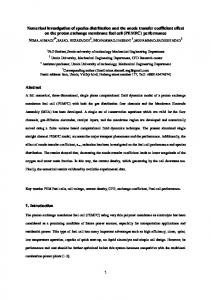 Numerical investigation of species distribution and the