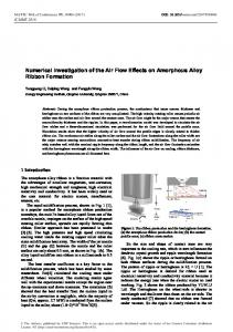 Numerical Investigation of the Air Flow Effects on Amorphous Alloy ...