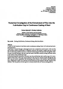 Numerical Investigation of the Entrainment of Flux into the ... - CiteSeerX