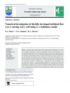 Numerical investigation of the fully developed ... - CyberLeninka