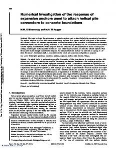 Numerical investigation of the response of expansion anchors used to ...