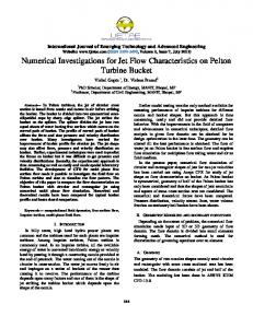 Numerical Investigations for Jet Flow ... - Semantic Scholar