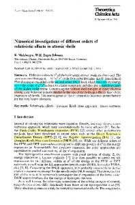Numerical investigations of different orders of ... - Springer Link