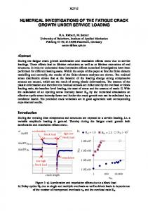numerical investigations of the fatigue crack growth under ... - CiteSeerX