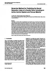 Numerical Method for Predicting the Sound Reduction Index of a ...