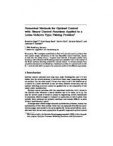 Numerical Methods for Optimal Control with Binary