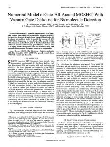 Numerical Model of Gate-All-Around MOSFET With Vacuum Gate ...