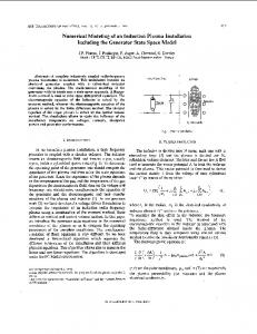 Numerical Modeling of an Induction Plasma Installation ... - IEEE Xplore