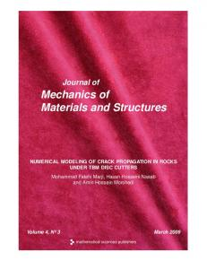 Numerical modeling of crack propagation in rocks under TBM disc