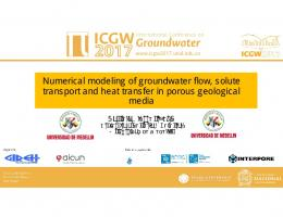 Numerical modeling of groundwater flow, solute ...