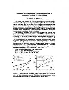 Numerical modeling of heat transfer and fluid flow in ...