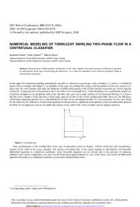 Numerical Modeling of Turbulent Swirling Two-Phase Flow in a