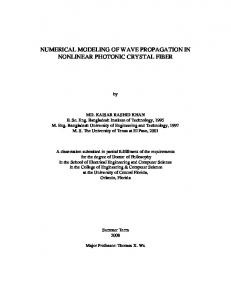 Numerical Modeling of Wave Propagation in - PURL