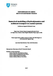 Numerical modelling of hydrodynamics and sediment