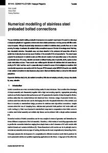 Numerical modelling of stainless steel preloaded bolted connections
