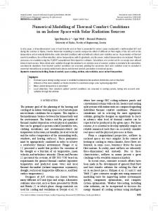 Numerical Modelling of Thermal Comfort Conditions in an Indoor ...