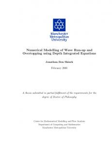 Numerical modelling of wave run-up and overtopping using depth ...