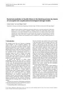 Numerical prediction of ductile failure in the blanking process by ...