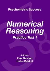 Numerical Reasoning Practice Test 1 - Psychometric Success