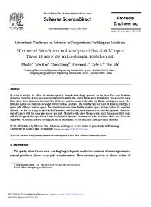 Numerical Simulation and Analysis of Gas-Solid-Liquid Three-Phase ...