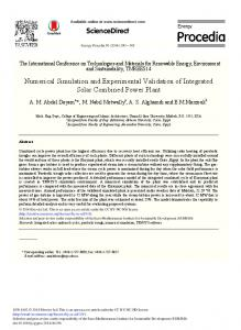 Numerical Simulation and Experimental Validation of ... - ScienceDirect