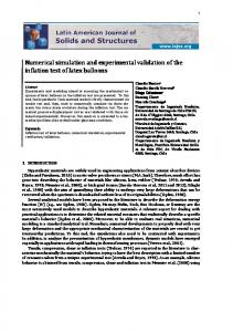 Numerical simulation and experimental validation of ...