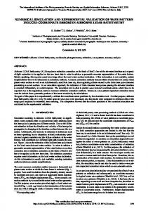 numerical simulation and experimental validation of wave pattern