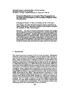 Numerical Simulation of Acoustic Wave Propagation in the Solar Sub ...