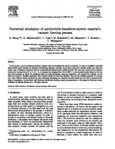 Numerical simulation of acrylonitrile-butadiene