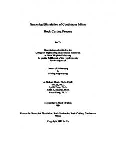 Numerical Simulation of Continuous Miner Rock ...