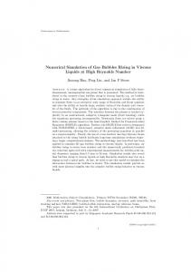 Numerical Simulation of Gas Bubbles Rising in Viscous Liquids at ...